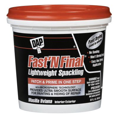 FAST 'N FINAL Lightweight Spackling, 32 oz , White
