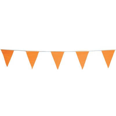 Pennants, Vinyl, 9 in x 12 in, Orange, 60 ft String