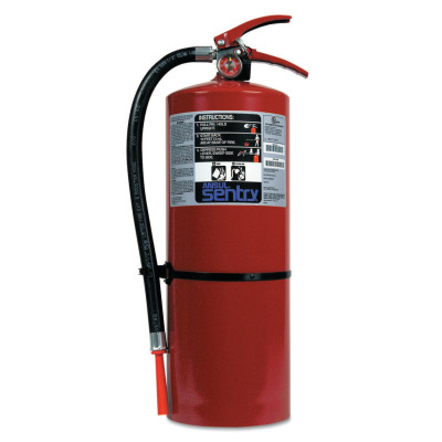 SENTRY Dry Chemical Hand Portable Extinguisher, Class B/C Fires, 20 lb Cap. Wt.