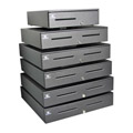 Series 4000 Cash Drawer (Stainless Steel Front with Dual Media Slots, 320 MultiPRO Interface, 18 Inch x 16 Inch and Coin Roll S