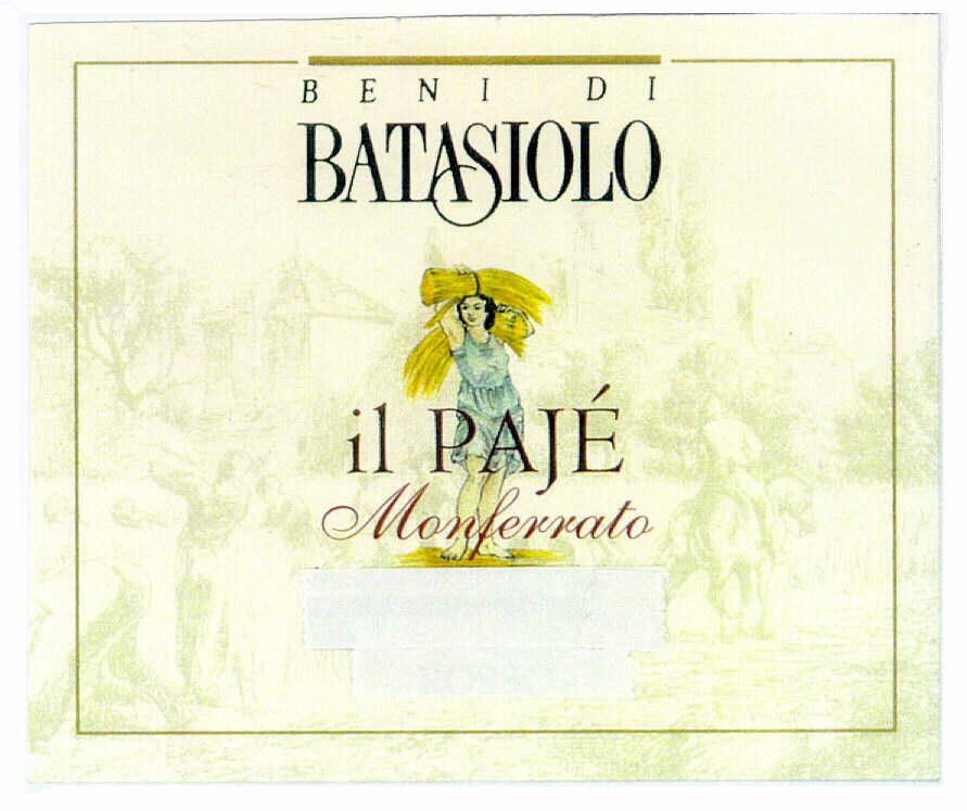 BENI DI BATASIOLO il PAJÉ Monferrato