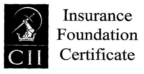 CII Insurance Foundation Certificate