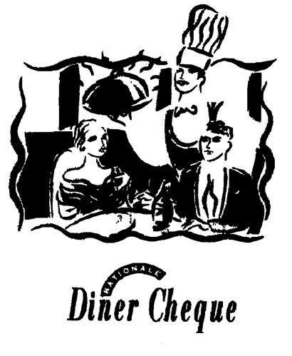 Diner Cheque NATIONALE