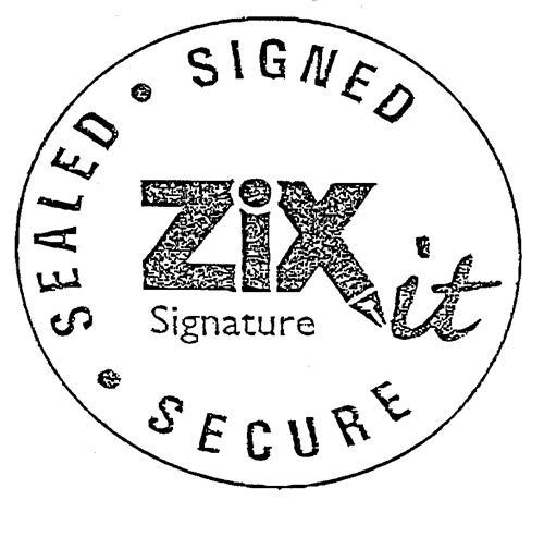 ZiXit Signature SIGNED · SEALED · SECURE