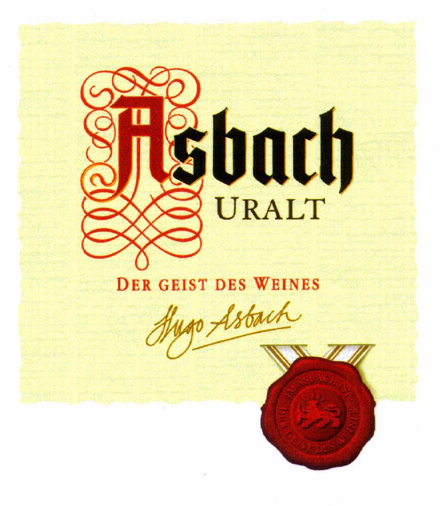 ASBACH URALT DER GEIST DES WEINES Hugo Asbach