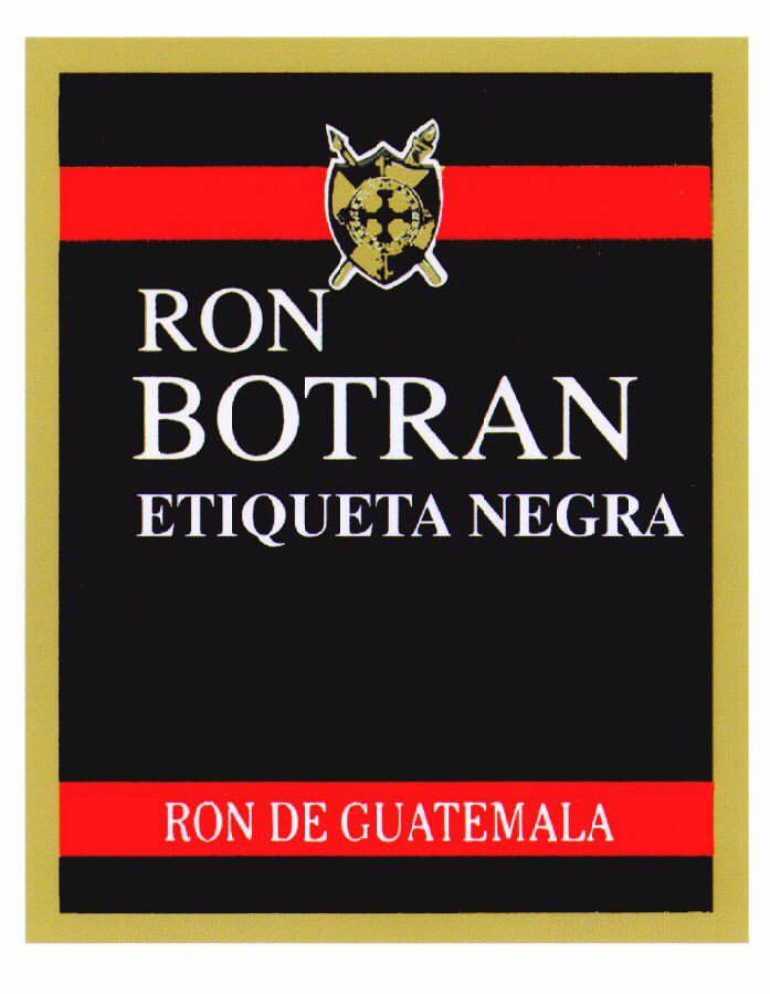 RON BOTRAN ETIQUETA NEGRA RON DE GUATEMALA
