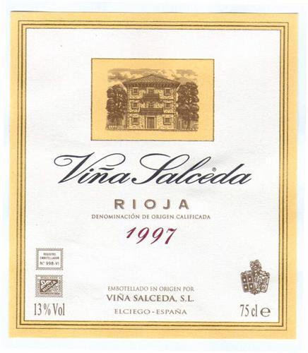 Viña Salceda RIOJA DENOMINACIÓN DE ORIGEN CALIFICADA 1997