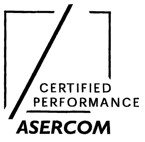 CERTIFIED PERFORMANCE ASERCOM