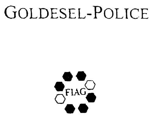 GOLDESEL-POLICE FIAG