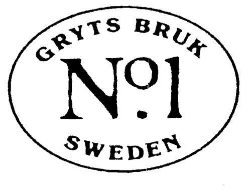 GRYTS BRUK Nº1 SWEDEN