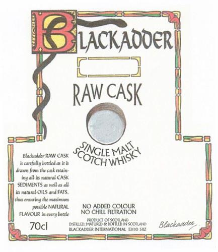 BLACKADDER RAW CASK SINGLE MALT SCOTCH WHISKY