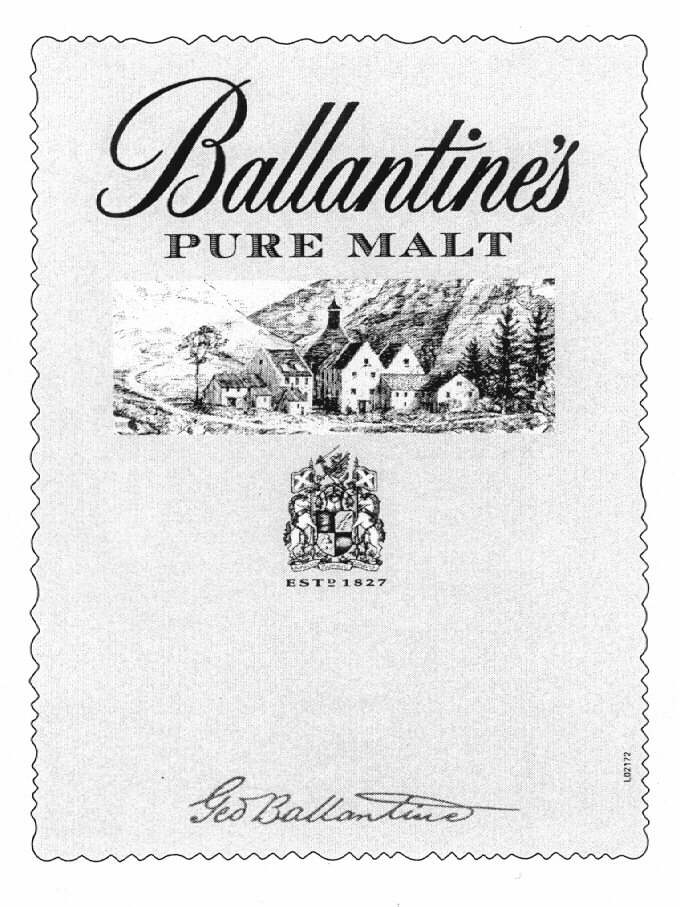 Ballantine's PURE MALT ESTD 1827 Ged Ballantine