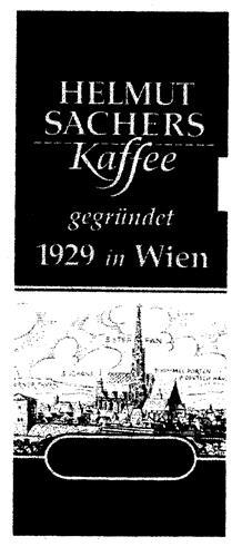 HELMUT SACHERS Kaffee gegründet 1929 in Wien