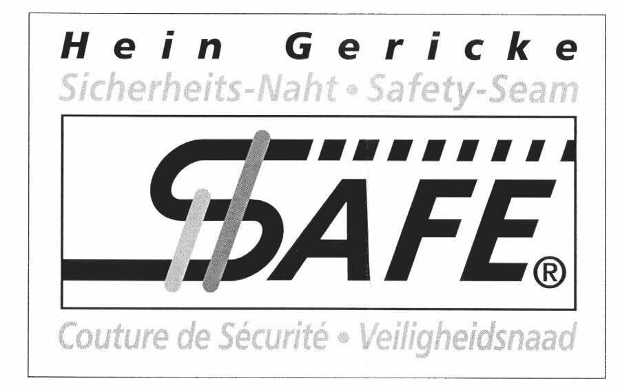 Hein Gericke Sicherheits-Naht . Safety-Seam SAFE Couture de Sécurité . Veiligheidsnaad