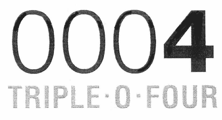 0004 TRIPLE-0-FOUR
