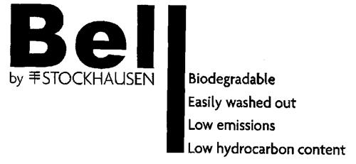 Bell by STOCKHAUSEN  Biodegradable  Easily washed out  Low emissions  Low hydrocarbon content