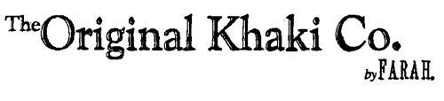 The Original Khaki Co. by FARAH