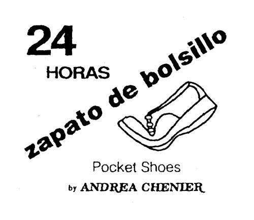 24 HORAS zapato de bolsillo Pocket Shoes by ANDREA CHENIER