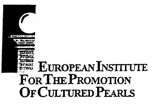 EUROPEAN INSTITUTE FOR THE PROMOTION OF CULTURED PEARLS