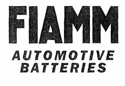 FIAMM AUTOMOTIVE BATTERIES