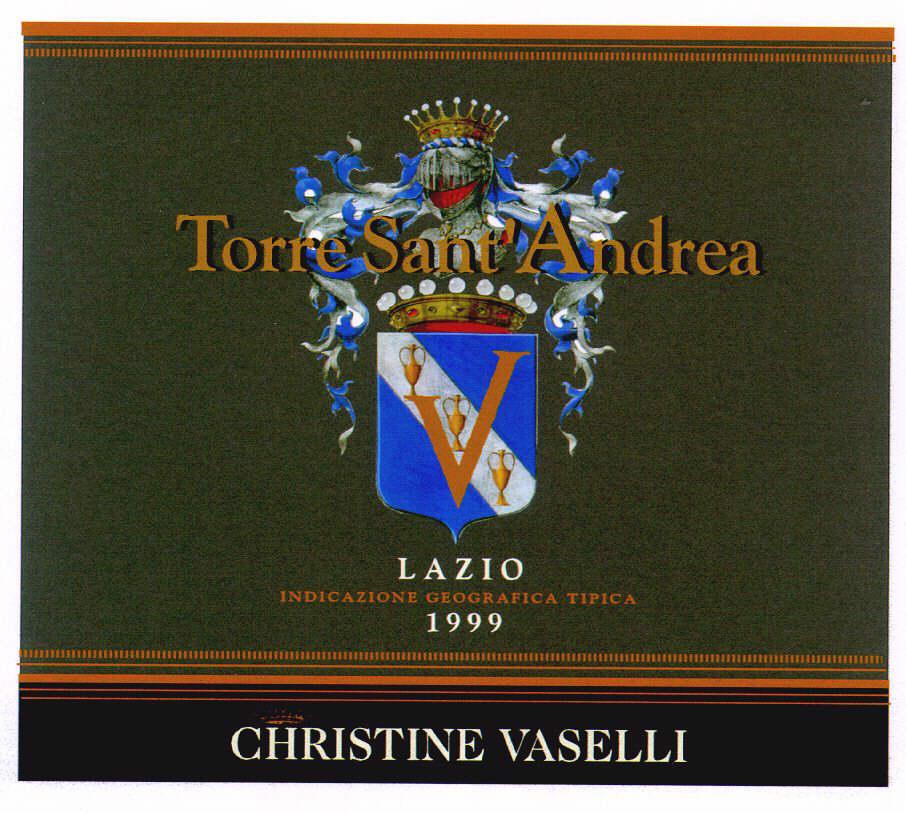 Torre Sant'Andrea LAZIO INDICAZIONE GEOGRAFICA TIPICA 1999 CHRISTINE VASELLI