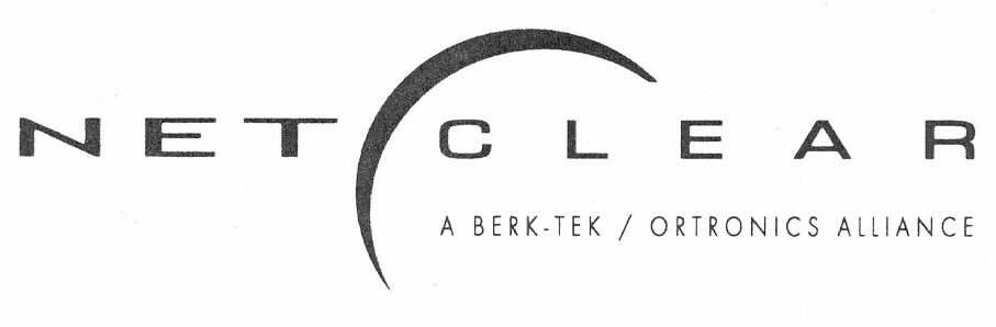 NET CLEAR A BERK-TEK / ORTRONICS ALLIANCE