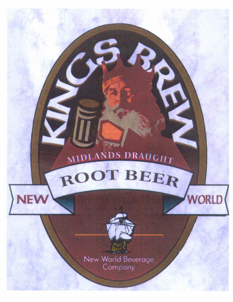 KINGS BREW NEW ROOT BEER WORLD