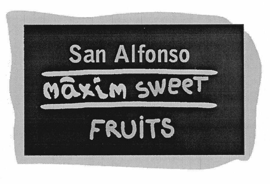 San Alfonso màxim sweet FRUITS