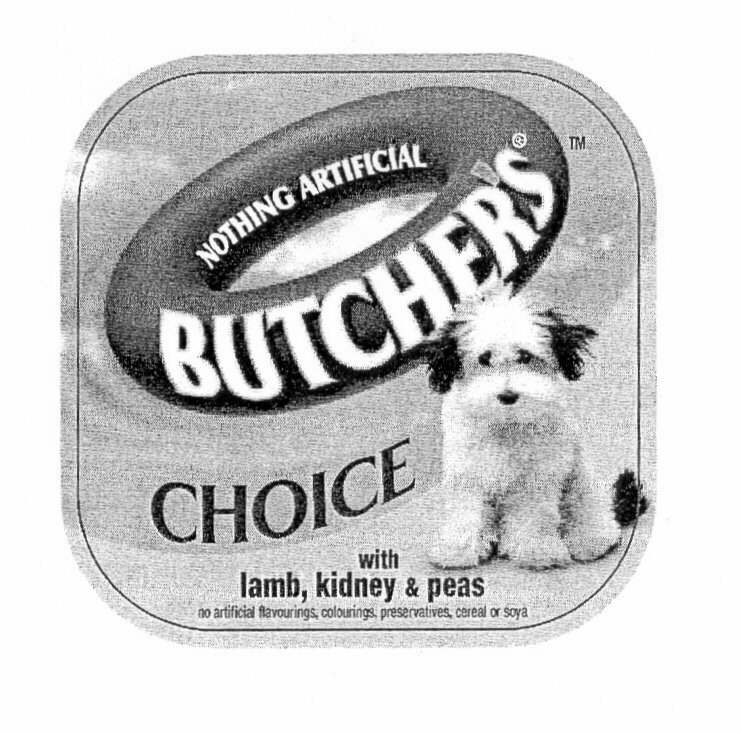BUTCHER'S CHOICE NOTHING ARTIFICIAL with lamb, kidney & peas