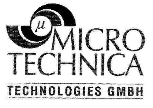 u MICRO TECHNICA TECHNOLOGIES GMBH