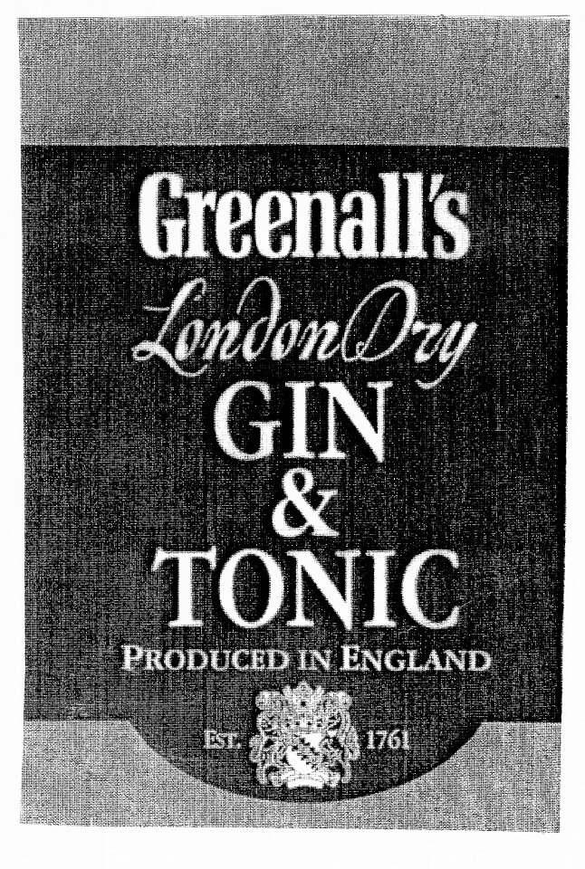 Greenall's LondonDry GIN & TONIC