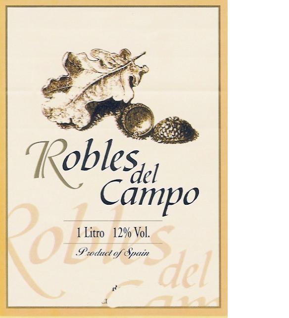 Robles del Campo 1 Litro 12% Vol. Product of Spain