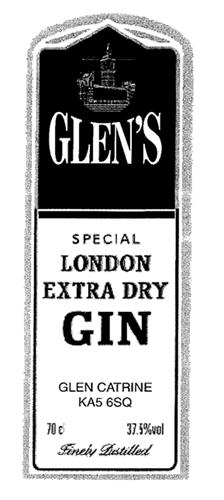 GLEN'S SPECIAL LONDON EXTRA DRY GIN
