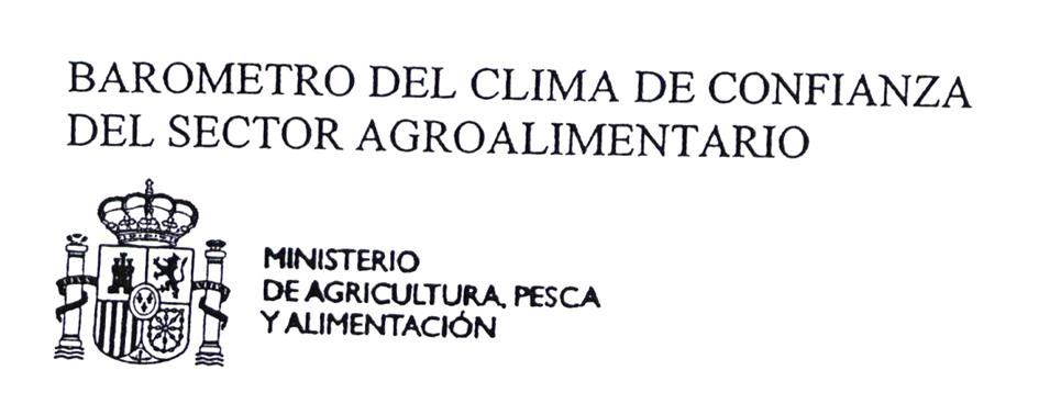 BAROMETRO DEL CLIMA DE CONFIANZA DEL SECTOR AGROALIMENTARIO MINISTERIO DE AGRICULTURA, PESCA Y ALIMENTACION