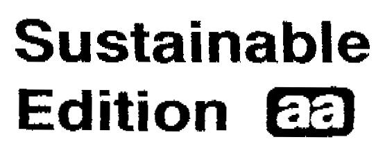 Sustainable Edition aa