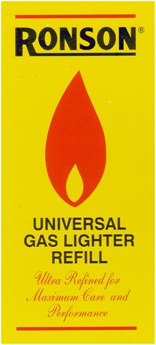 RONSON UNIVERSAL GAS LIGHTER REFILL Ultra Refined for Maximum Care and Performance