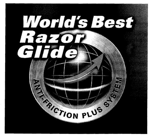 World's Best Razor Glide ANTI-FRICTION PLUS SYSTEM