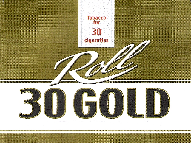 Tobacco for 30 cigarettes Roll 30 GOLD