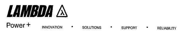 LAMBDA Power+ INNOVATION·SOLUTIONS·SUPPORT·RELIABILITY