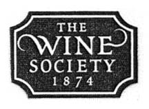 THE WINE SOCIETY 1874