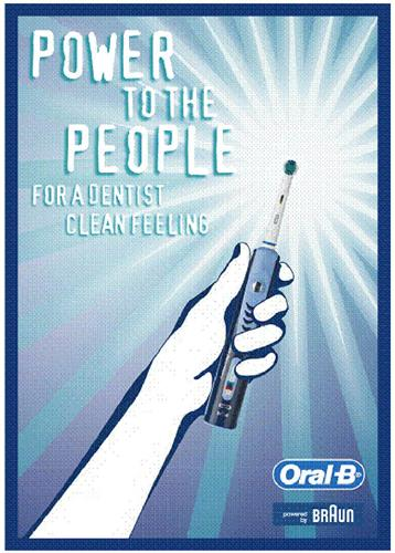 POWER TO THE PEOPLE FOR A DENTIST CLEAN FEELING Oral-B powered by BRAUN