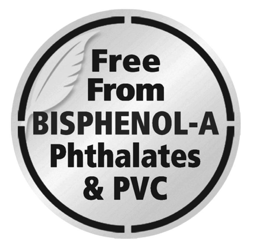 Free From Bisphenol-A Phthalates & PVC