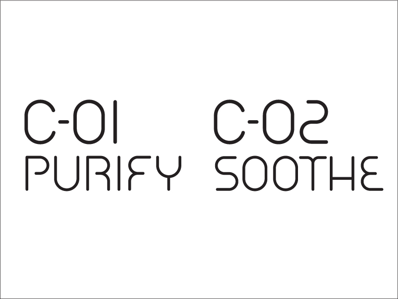 C-01 PURIFY C-02 SOOTHE