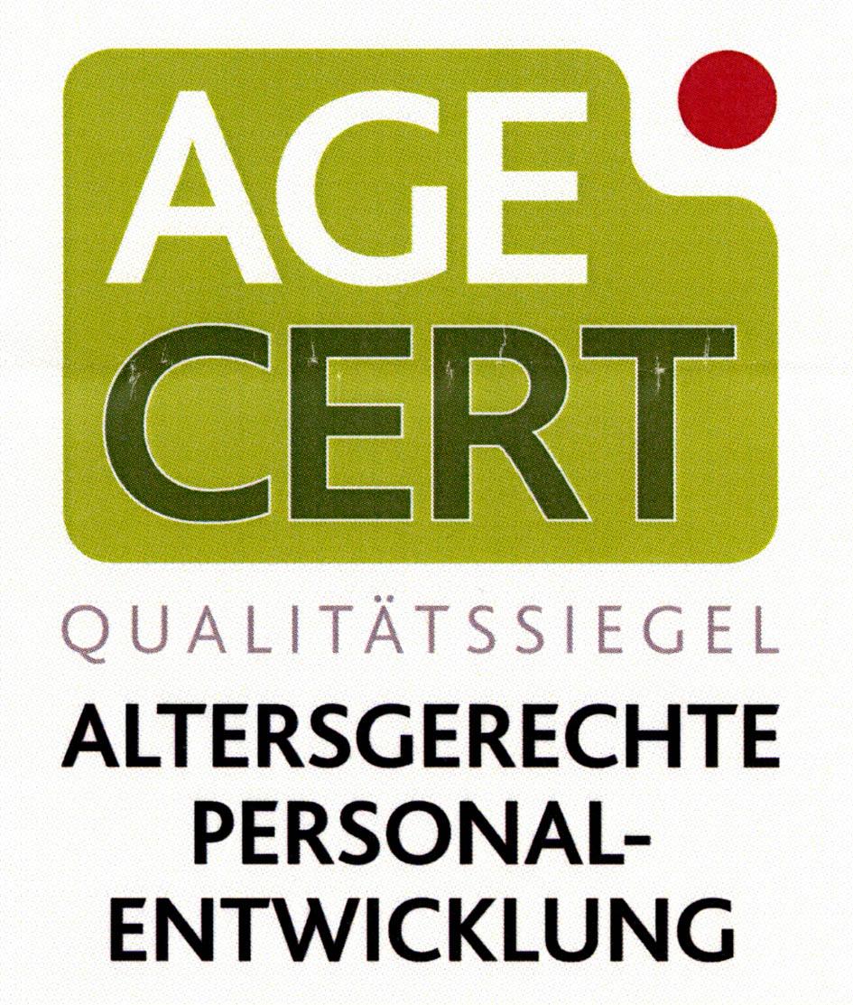 AGE CERT QUALITÄTSSIEGEL ALTERSGERECHTE PERSONAL-ENTWICKLUNG