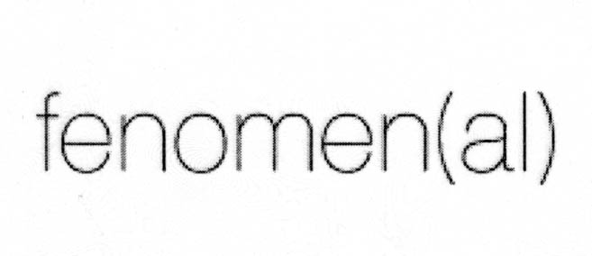 fenomen(al)