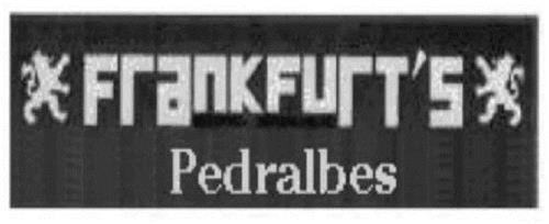 FRANKFURT'S PEDRALBES