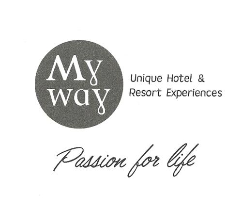 My way Unique Hotel & Resort Experiences Passion for life