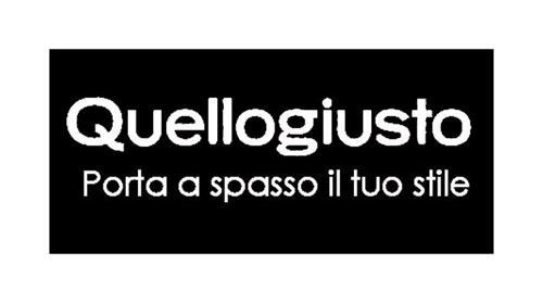 QUELLOGIUSTO PORTA A SPASSO IL TUO STILE