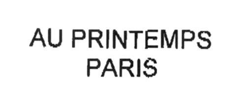 AU PRINTEMPS PARIS