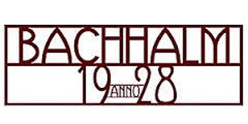 BACHHALM ANNO 1928
